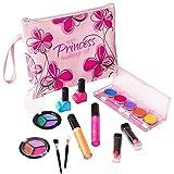 Playkidz PK3032 First Princess Washable Real Makeup Set Designer Floral Cosmetic Bag