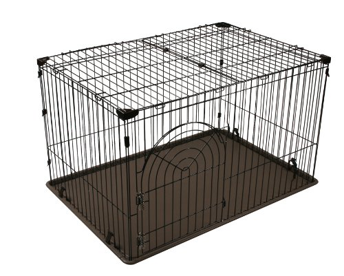 IRIS Large Wire Deluxe Dog Crate