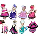 Kubeer Baby 0-3T Kid 3pc Clothes Set Infant Ruffle Bloomers+Tops+Headband Shorts
