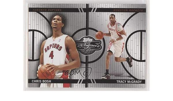 aad25b132fb1 Amazon.com  Tracy McGrady  Chris Bosh   899 (Basketball Card) 2008-09 Topps  Co-Signers - Changing Faces Mismatched  CF-1-2  Collectibles   Fine Art