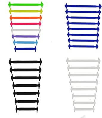 4 Piezas sin corbata Cordones - No Hay Necesidad de Atar, sin ...