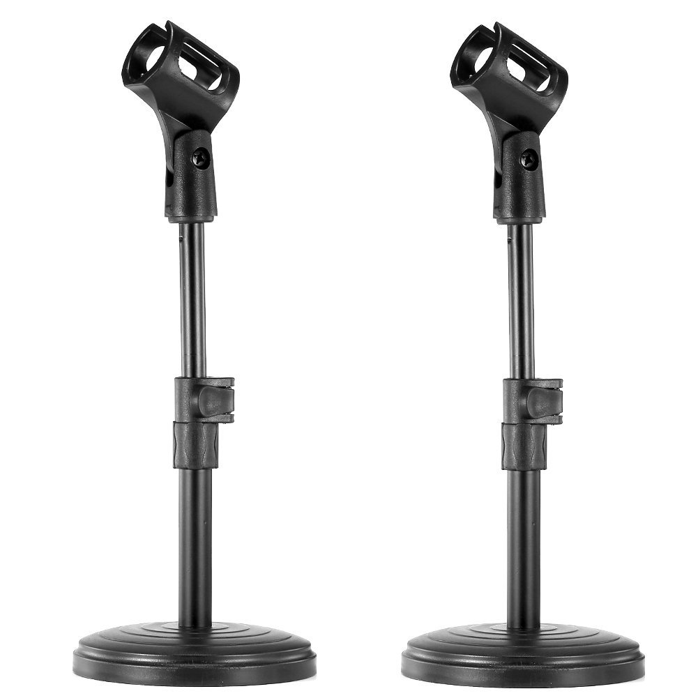 Neewer® 8/20cm Black Iron Base Desk Microphone Stand with Microphone Clip NEEWN