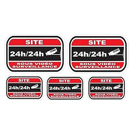 Sticker disuasorio para alarma y video vigilancia-ubicación ...