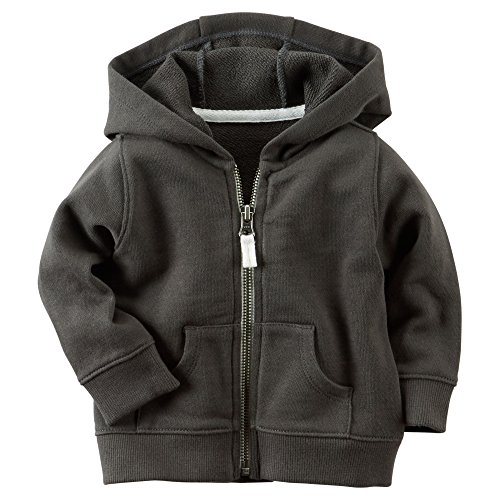 Carter's Baby Boys' French Terry Cardigan (Olive, 24 (French Terry Zip Hoodie Jacket)