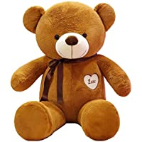 Happytoys 100cm Giant Teddy Bear Giant Plush Stuffed Toys Doll Lovers Valentines Birthday Gift ,brown