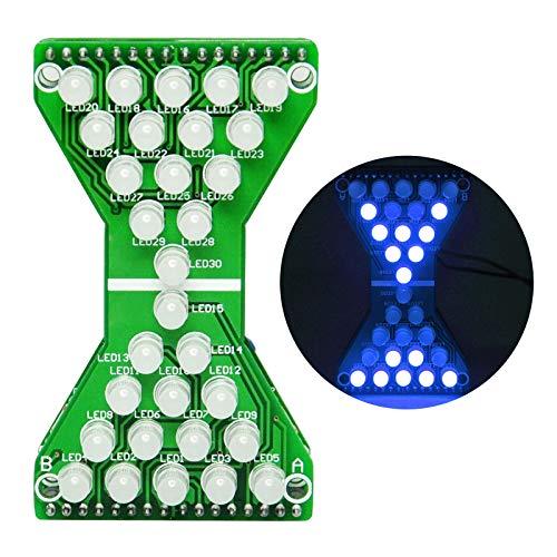 Gikfun Electronic Hourglass led DIY Kits Welding Practice Board Blue Ray EK1886 (Blue Ray Electronics)