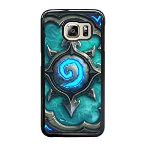 Wunatin Hard Case ,Samsung Galaxy S6 Edge Cell Phone Case Black Hearthstone card backs [with Free Touch Stylus Pen] BA-2230353