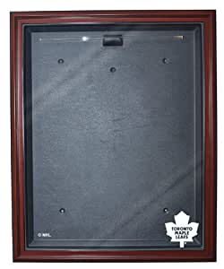 NHL Toronto Maple Leafs Removable Face Full Size Hockey Jersey Display - Mahogany