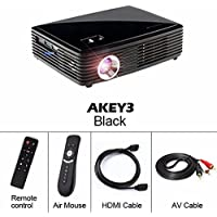 Projector 500 ANSI Lumens 1280800. Built-in Android4.42, WIFI, Bluetooth. Support Active 3D Miracast Airplay AKEY Y3