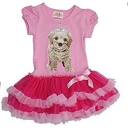 Beautees Little Girls Pink Dress (Pink, 3T)