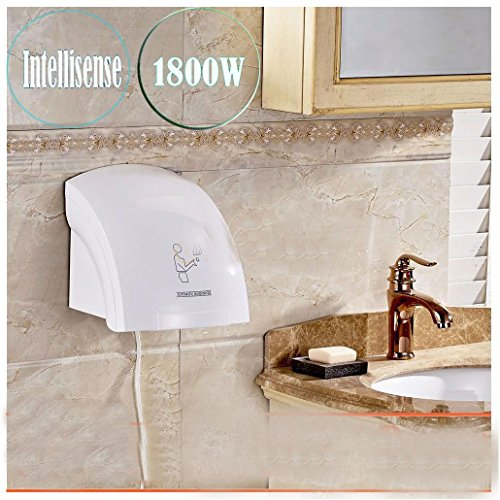 Hotel Automatic Infared Sensor Hand Dryer Household Bathroom Hands Drying Device by Unbranded*