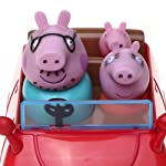 Peppa - 4902 - Figurine Animation - Peppa - Voiture Push Et Go avec 3 personnages