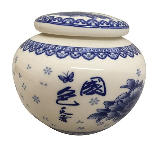 THY HOME Exquisite Oriental Ceramic Tea / Coffee Storage Jar Crock Canister ()