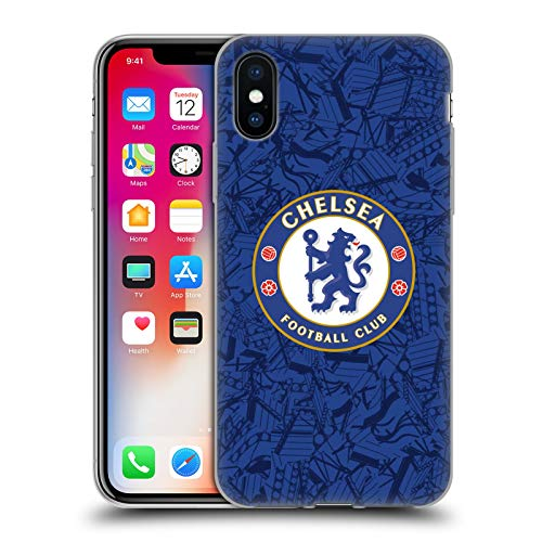 Official Chelsea Football Club Home 2019/20 Kit Soft Gel Case Compatible for iPhone X/iPhone Xs
