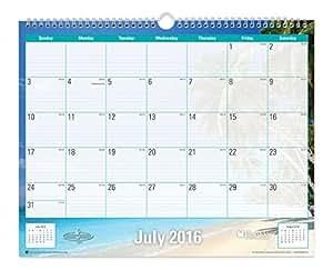 blue sky 2016 2017 academic year wall calendar wire o binding 15 x 12 endless. Black Bedroom Furniture Sets. Home Design Ideas