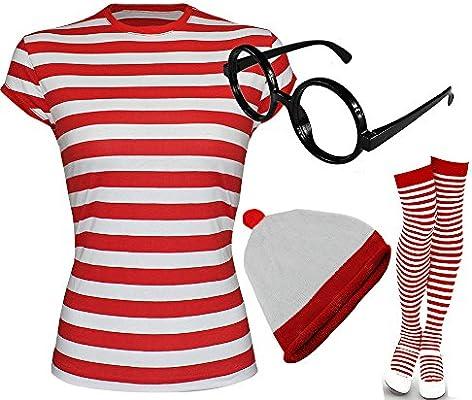 Charlie Rouge T Déguisement Shirt Labreeze Est Rayé Femme Ou bYf7yv6g