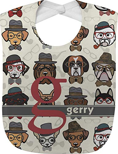 Hipster Dogs Baby Bib (Personalized)