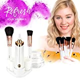 Estala Makeup Brush Cleaner & Makeup Brushes [BUNDLE] - Luxury Brushes + Superior Cleansing for Flawless Application - 12pc Makeup Brush Set + Cleaner/Dryer