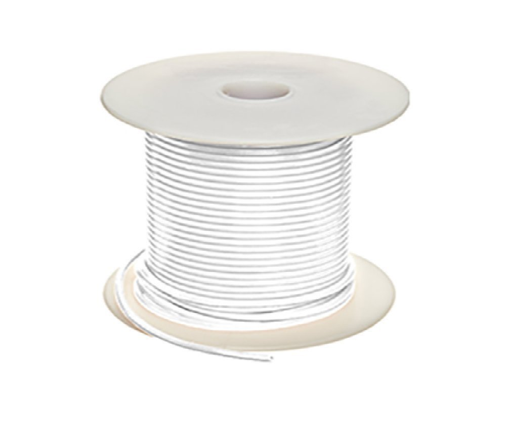 UL1007 300V 16GA Stranded Wire (100 Ft, White)