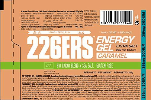 226ERS Energy Gel, Caramelo - Paquete de 30 x 40 gr - Total: 1200 gr: Amazon.es: Salud y cuidado personal