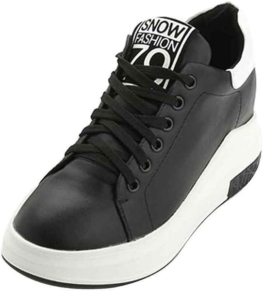 962c43a91ce LIURUIJIA Women Shoes Hidden Wedges 4.5cm Ankle Boots Fashion Sneaker High  Top Bootie Flats Platform