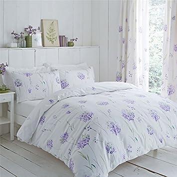 Lauch Blumen Lila Grün 144 Tc Baumwollmischung Doppelbett Bettwäsche Möbel & Wohnen Bettwäsche
