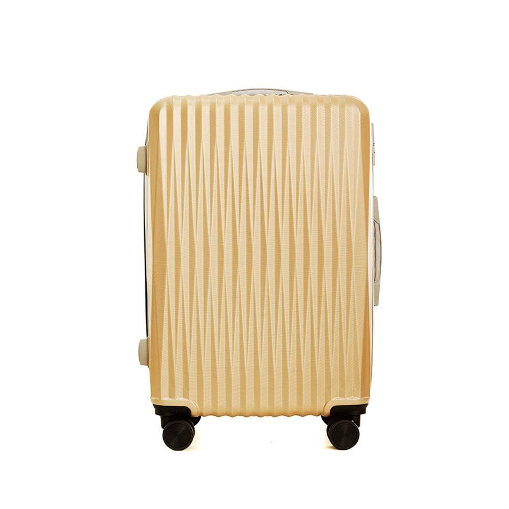 Abs + pcスーツケースキャリースピナーホイール旅行荷物TSAロック20インチ用女性男性スクールカレッジビジネス B07Q8JGZCJ Yellow
