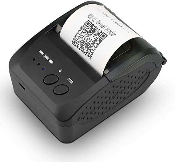 NETUM Wireless Bluetooth Receipt Thermal Printer, Portable Personal Bill Printer 2 Inches 58mm Mini USB POS Printer for Restaurant Sales Retail ...