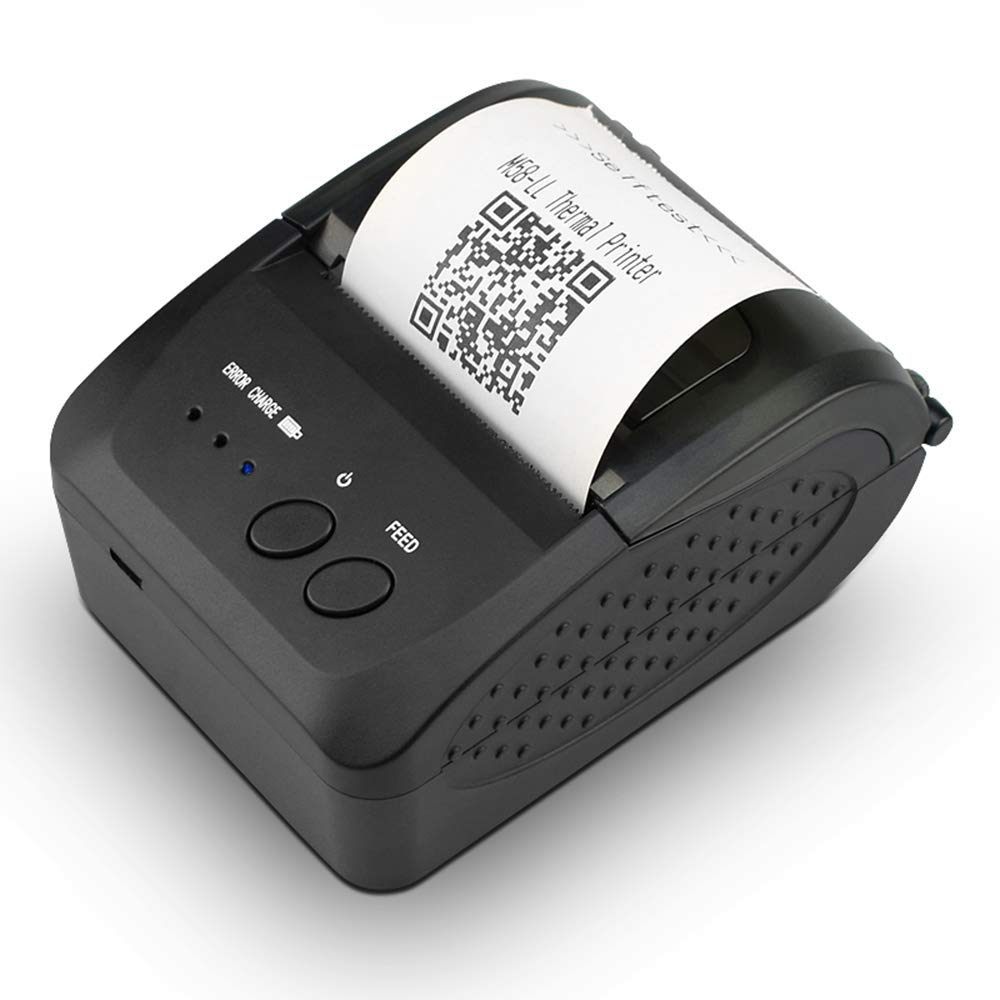 NETUM Wireless Bluetooth Receipt Thermal Printer, Portable Personal Bill Printer 2 Inches 58mm Mini USB POS Printer for Restaurant Sales Retail Compatible with Android/iOS/PC/Windows/Linux by NETUM