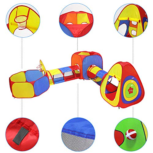 Yoobe Play Tents Jungle Up Tents, and Basketball Girls, and Toddlers with Carrying Indoor