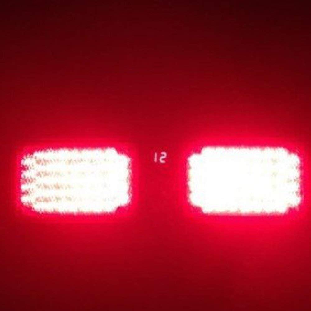 LED Frontblitzer HEHEMM Led Warnleuchte 86 LED 12V Led Blitzer Beleuchtung Notbeleuchtung Led Strobe Light 12 Modus Universal f/ür Stra/ßenverkehr Wei/ß