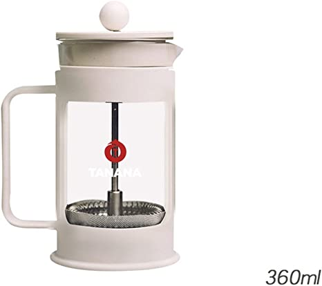 RENMEN 360ML Cafetera Filtro de Té Tetera de Vidrio Limpiar Sin ...