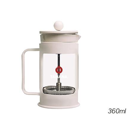 BXGCJT 360ML Cafetera Filtro de Té Tetera de Vidrio Limpiar ...