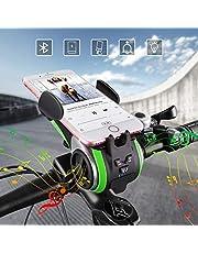 Bluetooth-Lautsprecher, UPPEL Tragbare Lautsprecher, Outdoor-Lautsprecher V4.0 +4400mAh Leistung Bank+Lichterkette+Glocke+Handyhalter+Freisprechen für Anrufe Support-TF-Karte für Musik Spielen 6 in 1