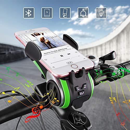 Altavoz Bluetooth,UPPEL Bluetooth Speaker, Altavoces Portatiles Bici Bluetooth V4.0 Altavoz+4400mAh Banco de energía…