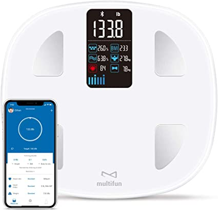 Premium Smart Fit Track Scale for Body Composition Bluetooth Body Fat Scale