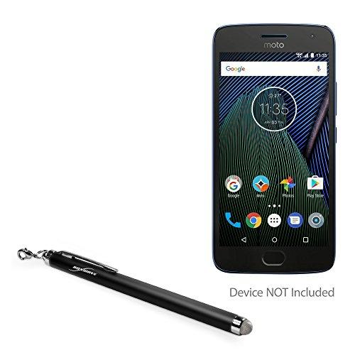 (Motorola Moto G5 Plus Stylus Pen, BoxWave [EverTouch Capacitive Stylus] Fiber Tip Capacitive Stylus Pen for Motorola Moto G5 Plus - Jet Black)