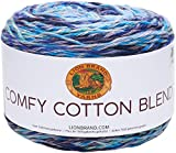 Lion Brand Yarn 756-709 Comfy Cotton Blend Yarn, Ocean Breeze