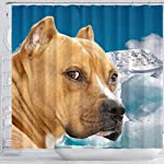 Pawzglore American Staffordshire Terrier Print Shower Curtains 7