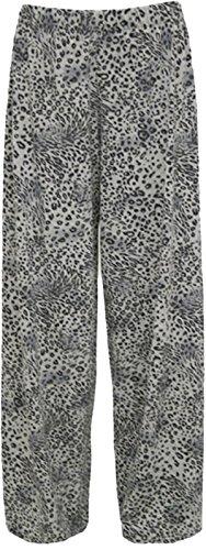 Femmes vase pantalons imprims Large Led Plus Size parallles pantalon palazzo 36-54 Animal Print