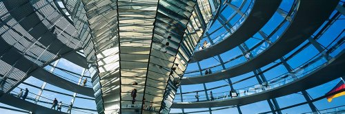 Walls 360 Peel & Stick Wall Murals: Glass Dome Reichstag (84 in x 28 in)