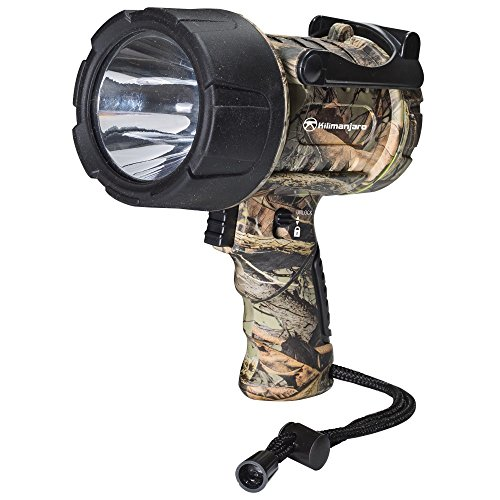 - Kilimanjaro 910113 250 Lumens Waterproof Camo Cree LED Spotlight, Black and Camo