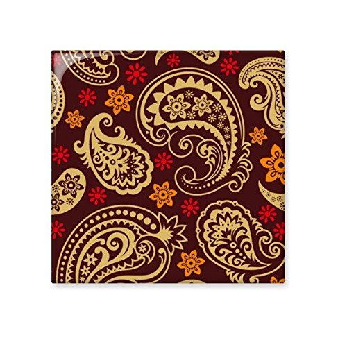 Printing Repeat Cloth Brown Colorful Art Grain Illustration Pattern Ceramic Bisque Tiles for Decorating Bathroom Decor Kitchen Ceramic Tiles Wall Tiles new