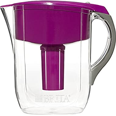 Brita 10 Cup Grand BPA Free Water Pitcher with 1 Filter, Violet