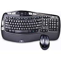 Logitech MK570 Comfort Wave Wireless Optical Mouse & Keyboard Combo (Black)