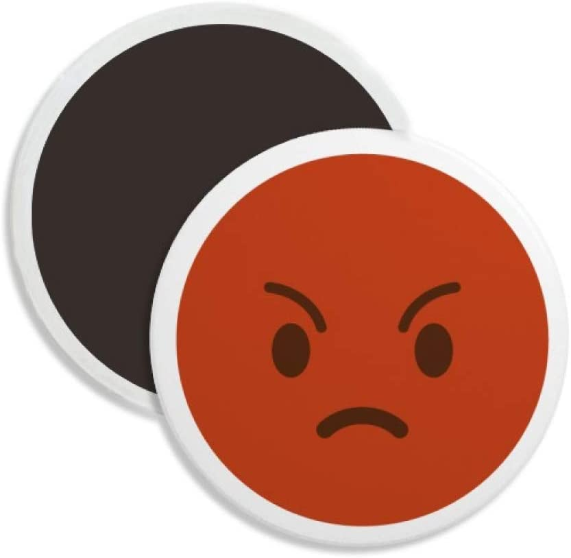 Angry Red Cute Online Chat Happy Round Ceramics Fridge Magnet Keepsake Decoration