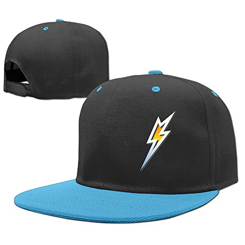 Bolt Hat (Rhfjgk Ldjg Silver Lightning Bolt Adjustable Baseball Caps Boy and Girls Hip-Hop Caps Cotton)