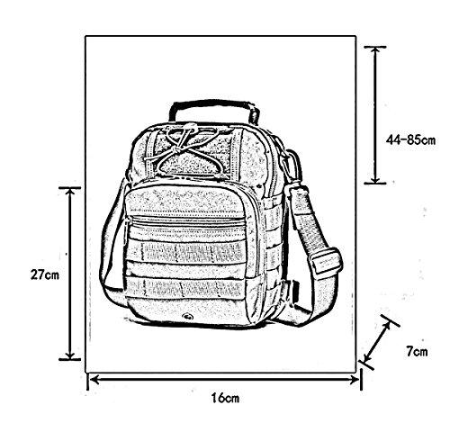 Panegy - Bolso Táctico de Nylon Bolso de Pecho/al Hombro Multifuncionales Unisex para Senderismo Deporte Acampada Ejército 4
