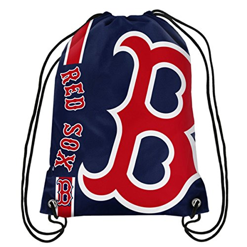 Official Major League Baseball Fan Shop Authentic Drawstring MLB Back Sack (Boston Red Sox)