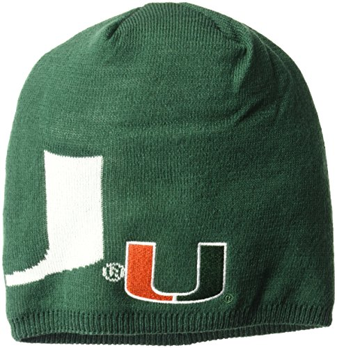 NCAA Miami Hurricanes Adult Men Glow in The Dark Beanie, One Size, - Miami In Men